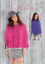 Sublime  Lola Super Chunky  -  6126 Ponchos Knitting Pattern
